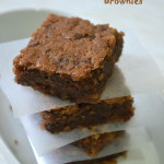 Coffee Walnut Brownies - Eggless Brownies