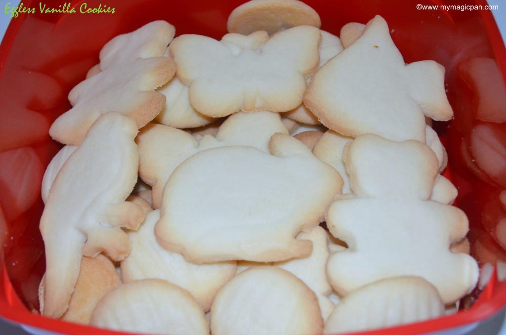Eggless Vanilla Cookies My Magic Pan