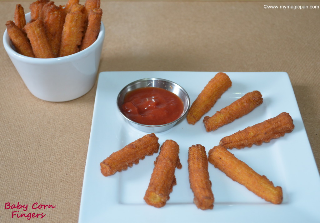 Baby Corn Fingers My Magic Pan