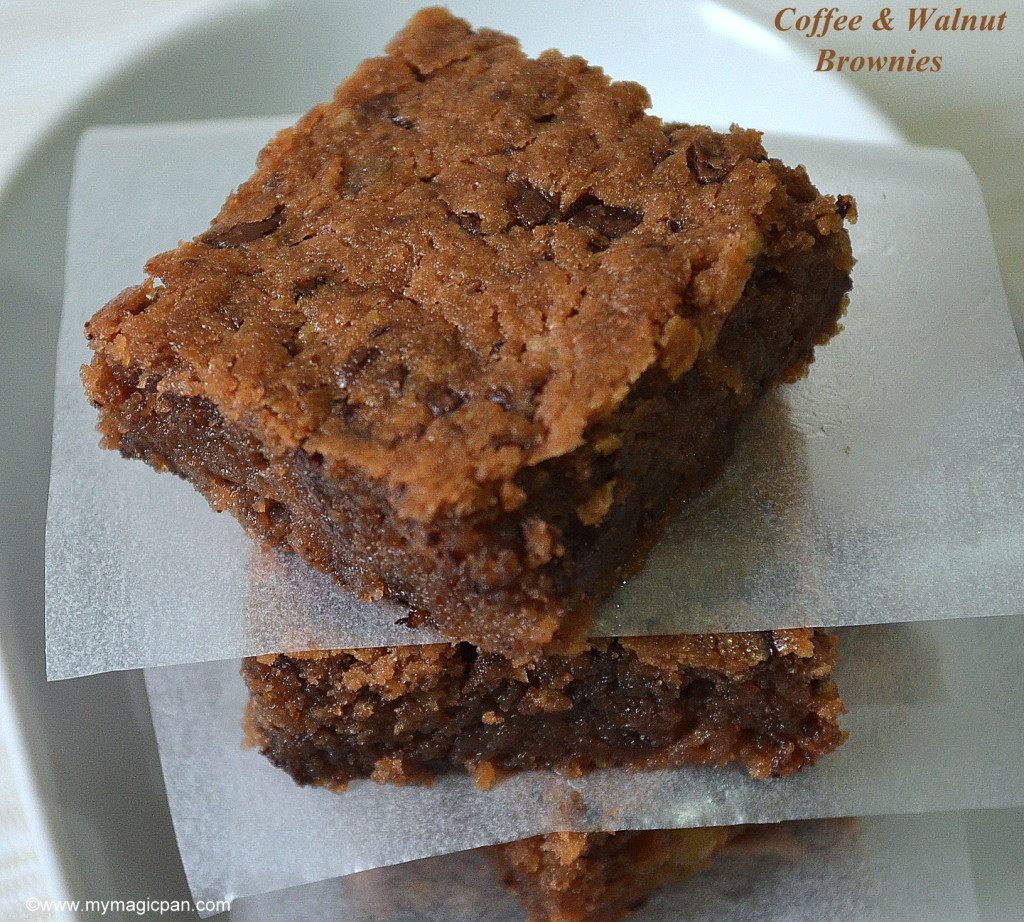 Coffee Walnut Brownies My Magic Pan